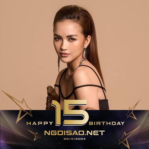 Hoa hậu Siêu quốc gia Việt Nam 2018 Ngọc Châu đổi hình đại diện trang cá nhân mừng sinh nhật báo Ngôi Sao.