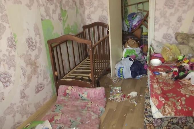 Căn hộ nơi Vladislava bỏ lại hai con không thức ăn, nước uống ở Kiev, Ukraina. Ảnh: East2west.