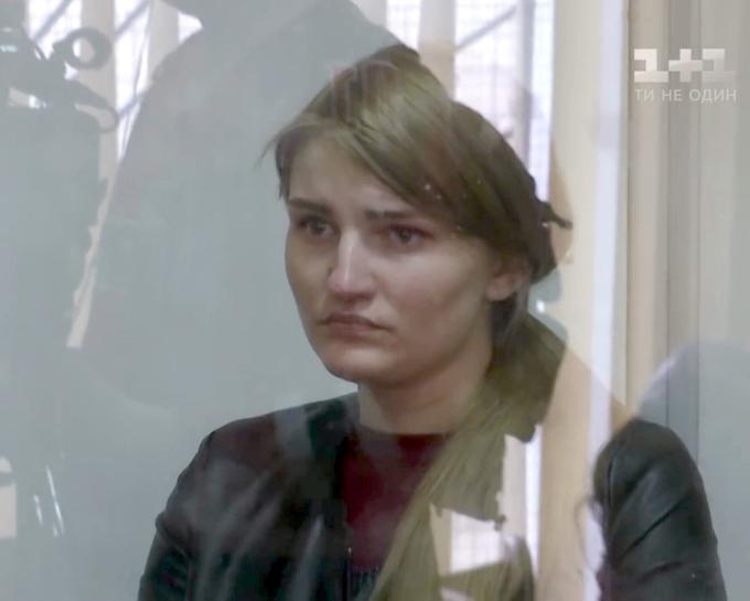 Vladislava tại tòa án ở thành phố Kiev, Ukrainakhi bị buộc tội giết người có chủ đích. Ảnh: East2west.
