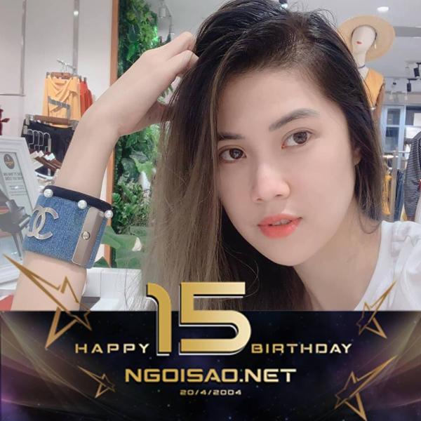 Siêu mẫu Thu Hằng gửi lời nhắn đến tòa soạn: Chúc mừng 15 trăng tròn Ngoisao.net nha.