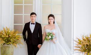 Ảnh cưới như bìa tạp chí của diễn viên 'Giải cứu tiểu thư'