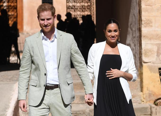 Harry và Meghan trong chuyến công du Morocco cuối tháng 2. Ảnh: PA.