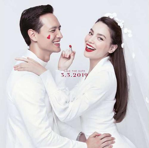 Bức ảnh khiến fan lầm tưởng là ảnh cưới của Hồ Ngọc Hà - Kim Lý thực chất là ảnh thông báo ngày ra mắt loại son môi mới của Hồ Ngọc Hà.