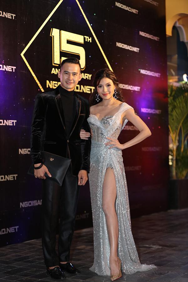 Vợ chồng Thuý Diễm - Lương Thế Thành trốn con trai Bảo Bảo đi dự tiệcsinh nhật báo Ngôi Sao tại TP HCM tối 19/4.