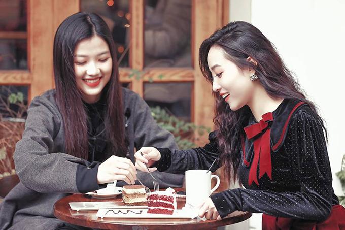 Mai Anh và Lương Thanh trở thành đôi bạn thân sau khi đóng chung Những cô gái trong thành phố.