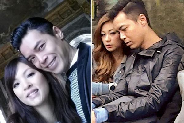 Lý Nhuận Đình cùng vợ (bên trái) và tình nhân (bên phải).