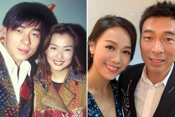 Hứa Chí An bên vợ (bên trái) và người tình (bên phải).
