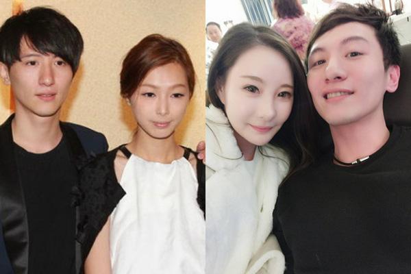 Chu Vĩnh Hằng cùng vợ đầu (bên trái) và vợ hai (bên phải).