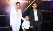Con trai Khánh Thi mặc bảnh bao theo chân bố mẹ đi dự tiệc Ngôi Sao