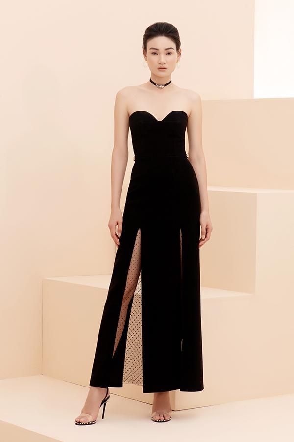 Lấy cảm hứng từ những quý cô hiện đại và sành mốt, stylist Đinh Thành Long đã mang tới các mẫu váy tiệc tùng chứa đựng nét gợi cảm, thanh lịch.