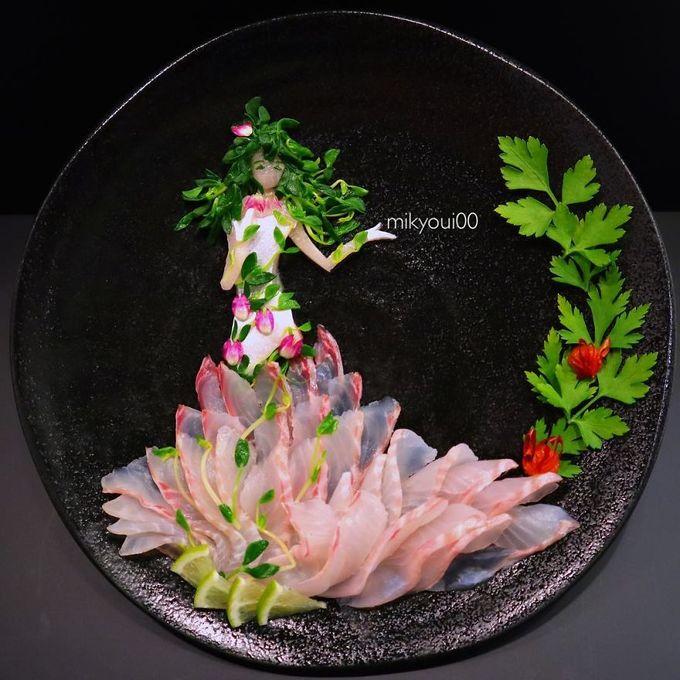 Người đàn ông Nhật biến sashimi thành tranh 3D đẹp không nỡ ăn