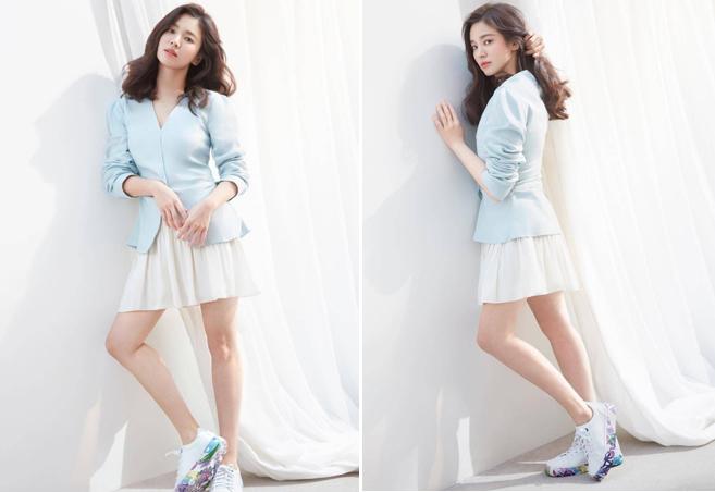 Hình ảnh ngôi sao Hàn được khán giả khen ngợi như nữ sinh hai mươi.
