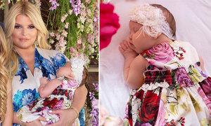 Jessica Simpson hồi phục sau mổ đẻ, khoe con gái bụ bẫm
