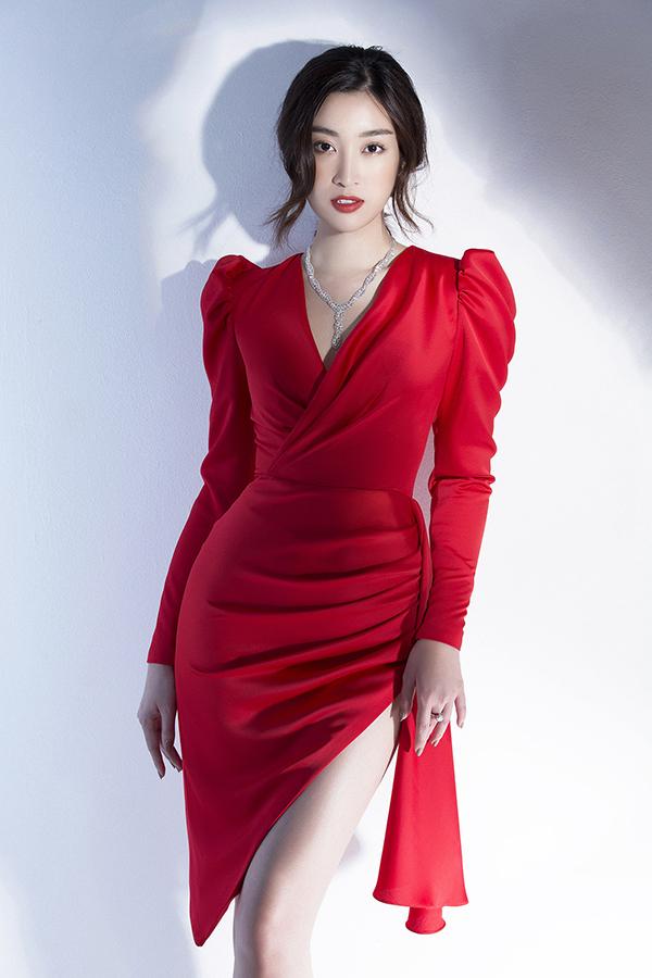 Đỗ Mỹ Linh phô diễn đường cong với váy Đỗ Long - 3