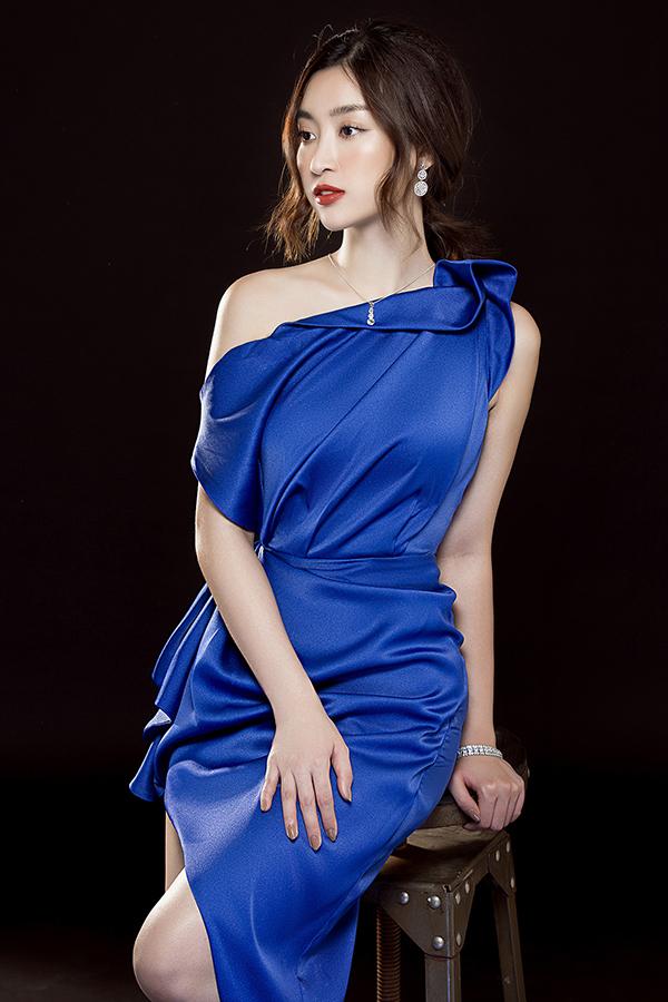 Đỗ Mỹ Linh phô diễn đường cong với váy Đỗ Long - 5