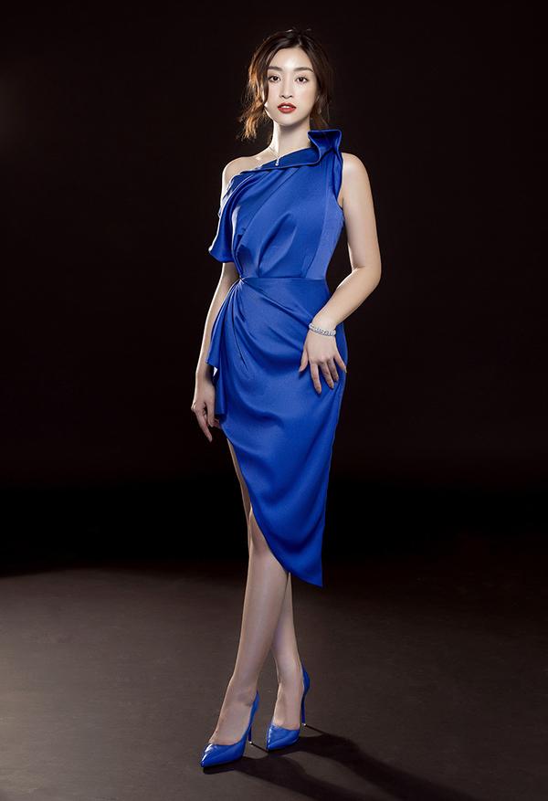 Đỗ Mỹ Linh phô diễn đường cong với váy Đỗ Long - 6