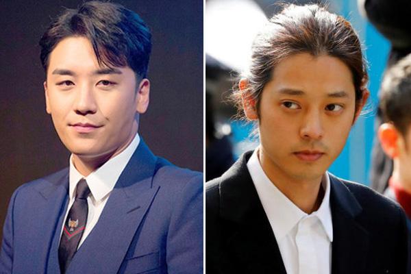 Chân dung Seungri (bên trái) và Jung Joon Young (bên phải).