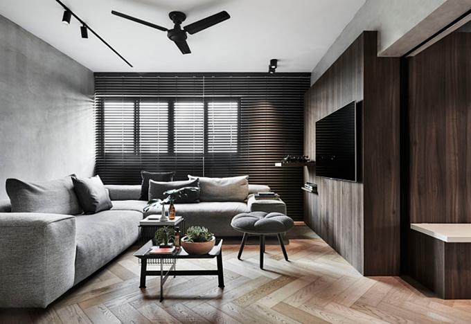 Được xây dựng từ năm 1979, căn hộ có diện tích 125 m2 này được cải tạo trong vòng 6 tháng với chi phí khoảng 150.000 SGD.