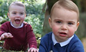 Hoàng tử Louis cười khoe răng sữa trong bức ảnh mẹ chụp
