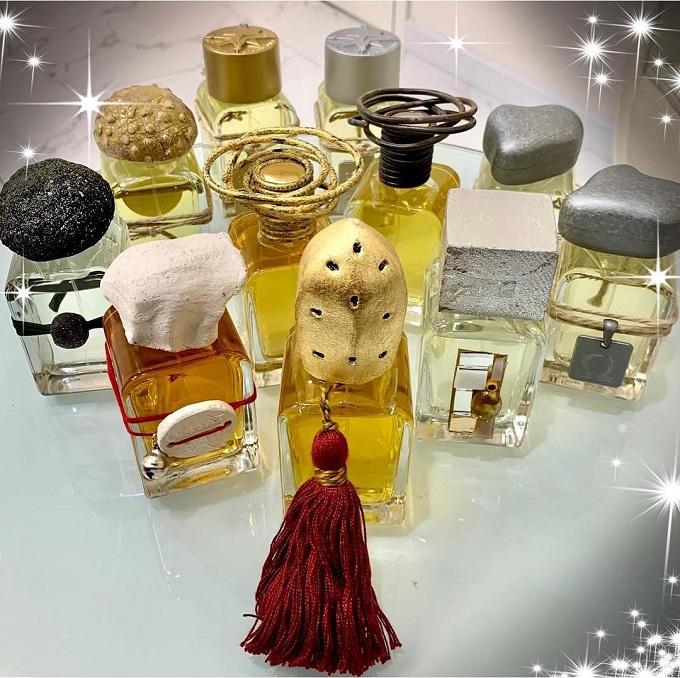 Bộ sưu tập nước hoa Mendittorosa gồm 11 chai: Osang, Sirio, Archetipo, North, South...