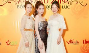 Ngọc Trinh, Stella Chang, Huyền Lizzie hội ngộ tại sự kiện 'Bông hồng Quyền lực'