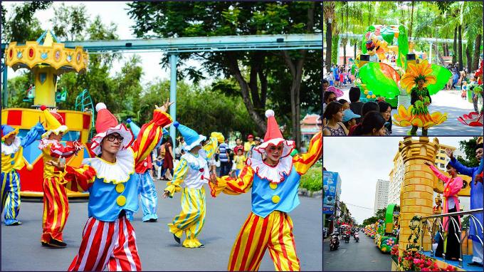 Loại hình nghệ thuật đường phố, biểu diễn bong bóng khổng lồ trên nền nhạc vui nhộn còn mang đến các du khách nhí nhiều bất ngờ thú vị. Ngoài ra, nhiều hoạt động đường phố như xiếc thú, biểu diễn cà kheo nhún, trình diễn của đội kèn đồng Võ Thành Trang, show hoạt náo các nhân vật trong phim hoạt hình của Disneyland... sẽ là các hoạt động mang đến nhiều trải nghiệm đáng nhớ cho du khách.