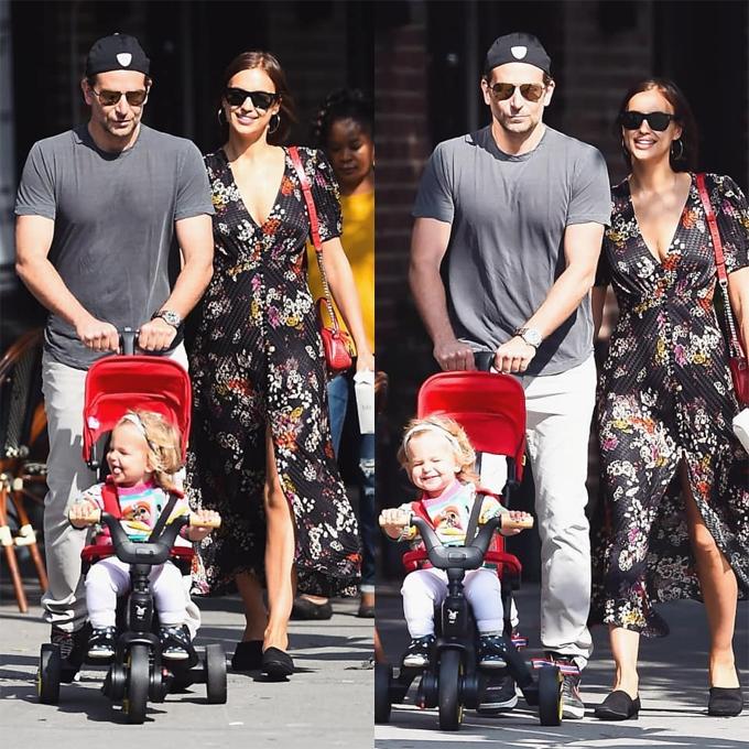 Công chúa nhỏ của tài tử A Star Is Born và siêu mẫu Nga vừa tròn hai tuổi vào cuối tháng 3. Gia đình cặp sao hiện sống tại Los Angeles, Mỹ.