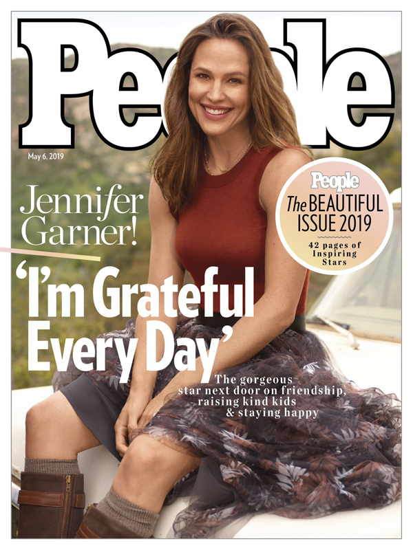 Jennifer Garner trên tạp chí People.