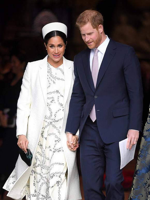 Vợ chồng Harry - Meghan dự sự kiện ở Điện Buckingham hồi tháng 3. Ảnh: WireImage.