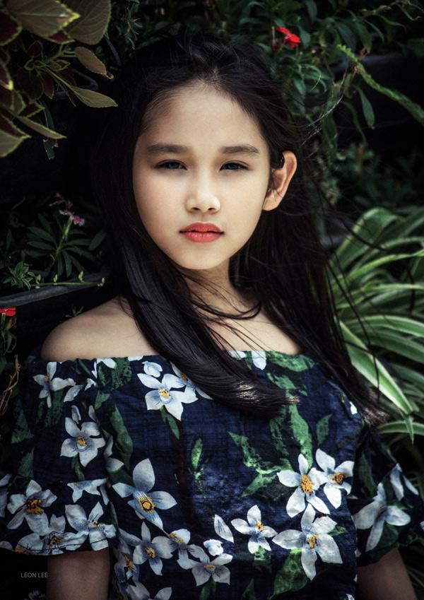 Con gái Minh Tiệp, bé Minh Thùy, có năng khiếu làm mẫu từ bé.