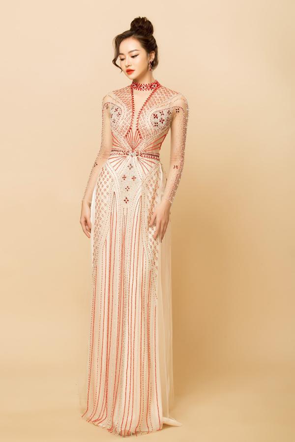 Người đẹp Việt tỏa sáng trong áo dài lấp lánh - 5