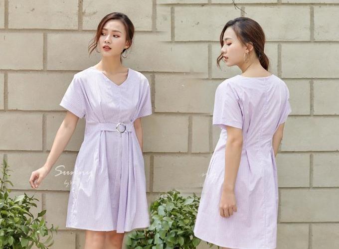 Đầm công sở màu sắc thanh nhã cho chị em diện mùa hè - 2