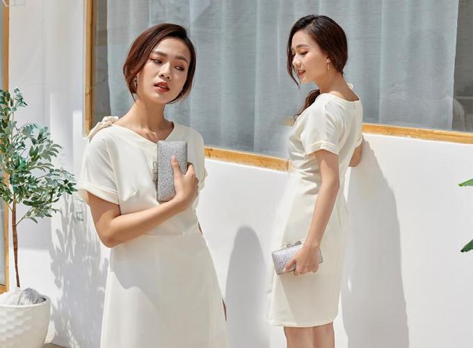 Đầm công sở màu sắc thanh nhã cho chị em diện mùa hè - 8