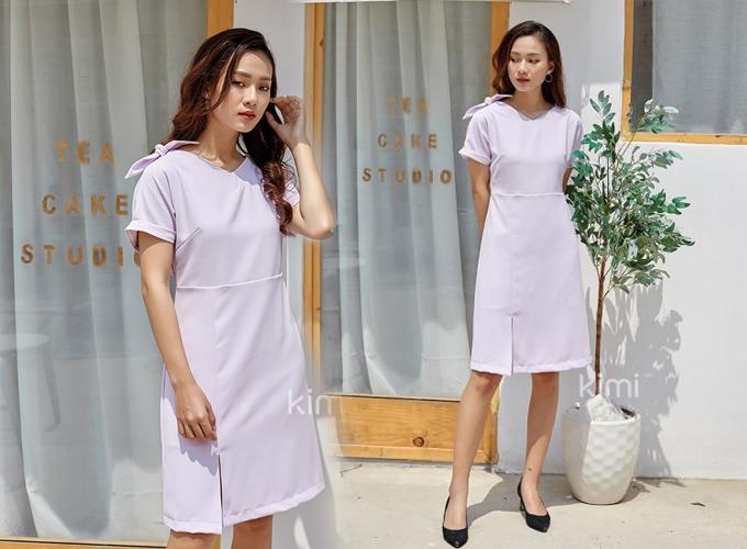 Đầm công sở màu sắc thanh nhã cho chị em diện mùa hè - 9
