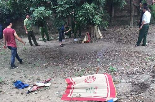 Khu vực phát hiện thi thể nạn nhân. Ảnh: Nguyễn Gia.
