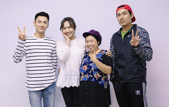 Isaac, Diệu Nhi, Phi Phụng, Kiều Minh Tuấn (từ trái qua)đóng chính phim Anh trai yêu quái.