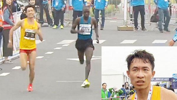 Wu nỗ lực vượt qua VĐV châu Phi dù bị tiêu chảy.