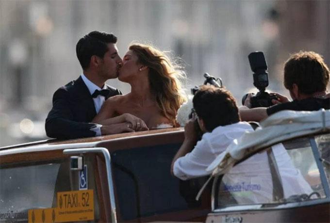 Đám cưới Morata là sự kiện gần nhất Eleonora Rioda tổ chức cho cầu thủ ngôi sao tại Venice.