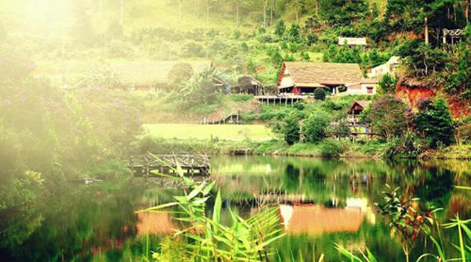 Cảnh sắc thiên nhiên tươi đẹp của Đà Lạt.