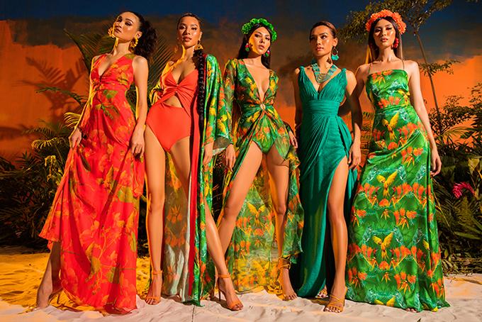 Váy lụa bay bổng, đầm cắt xẻ táo bạo, váy ngắn sexy được khai thác một cách triệt để nhằm giúp người mặc khoe hình thể cuốn hút.
