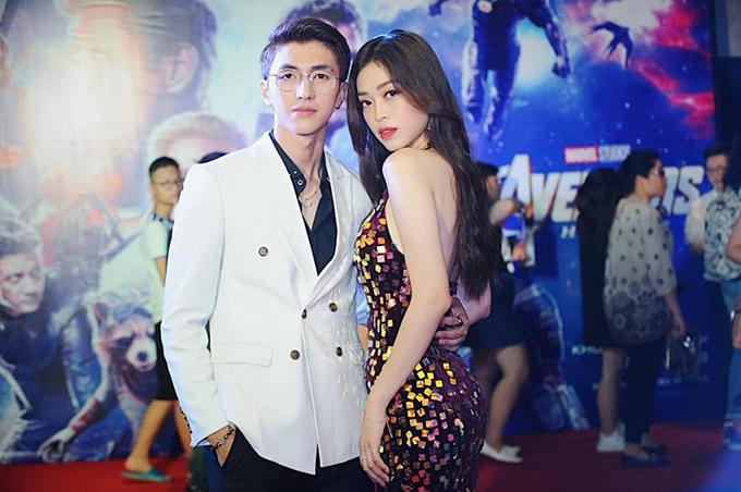 Á hậu Phương Nga và bạn trai diễn viên Bình An tình tứ tại một sự kiện ở Hà Nội.