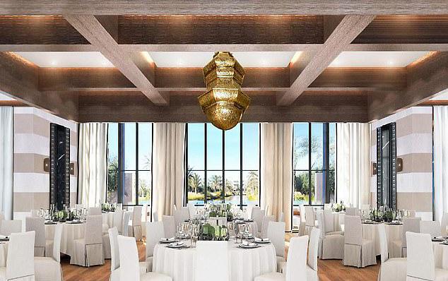 Không gian tiệc cưới tại khách sạn 5 sao ở Marocco.