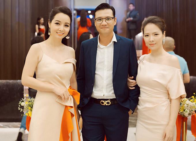 Đan Lê - Khải Anh hội ngộ diễn viên Mai Thu Huyền.