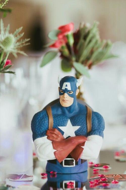 Chắc hẳn ý tưởng này sẽ khiến những khách mời cũng là fan phim Avengers thích thú.