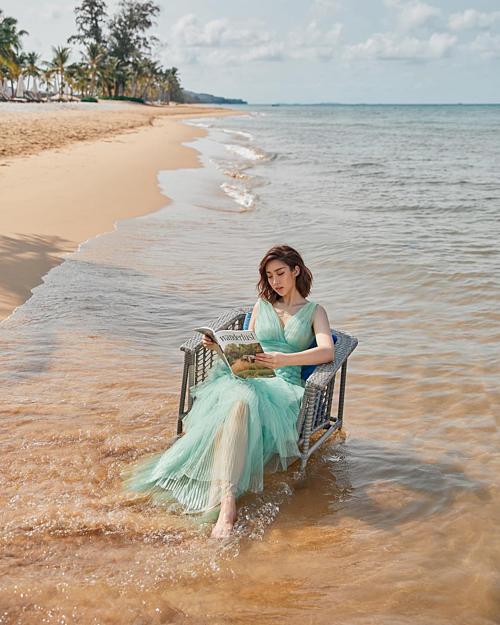 Hoa hậu Đỗ Mỹ Linh hỏi fan: Kỳ nghỉ của bạn thế nào?.