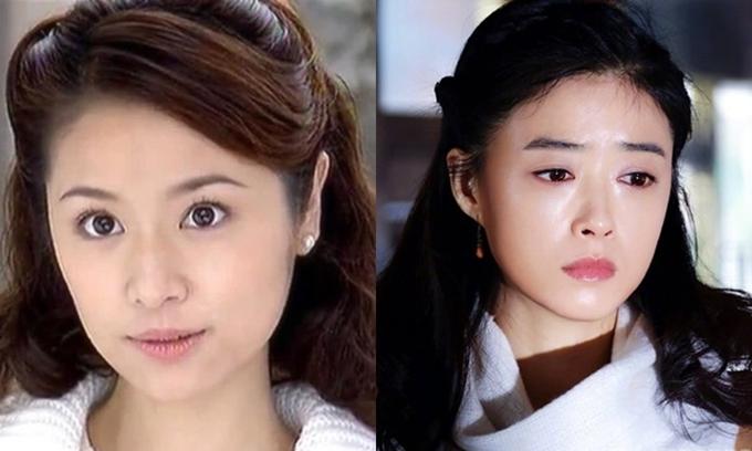 Tưởng Hân (phải) đóng lại vai Cố Mạn Trinh của Lâm Tâm Như.