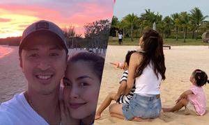 Tăng Thanh Hà tận hưởng kỳ nghỉ bình yên bên chồng con
