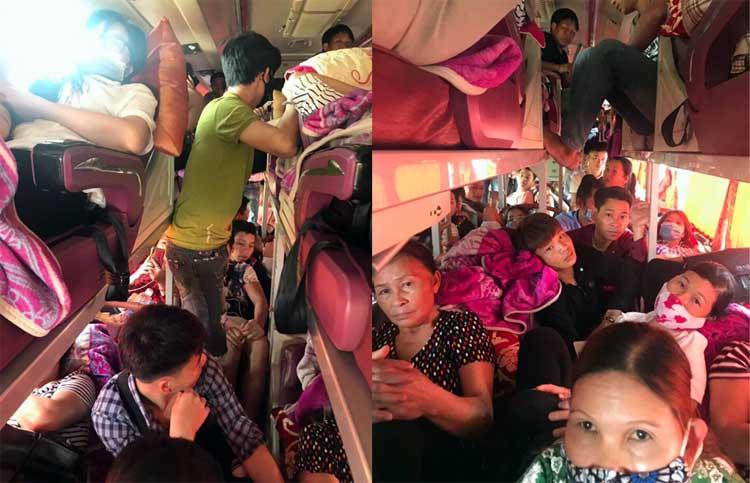 Xe khách giường nằm 41 chỗ chở 78 người bị cảnh sát giao thông Phú Thọ xử phạt 45 triệu đồng.