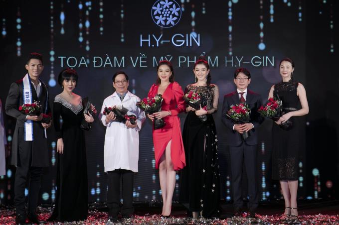 Kỳ Duyên, Huyền My diện váy xẻ đùi dự sự kiện của mỹ phẩm Hamyang ginseng