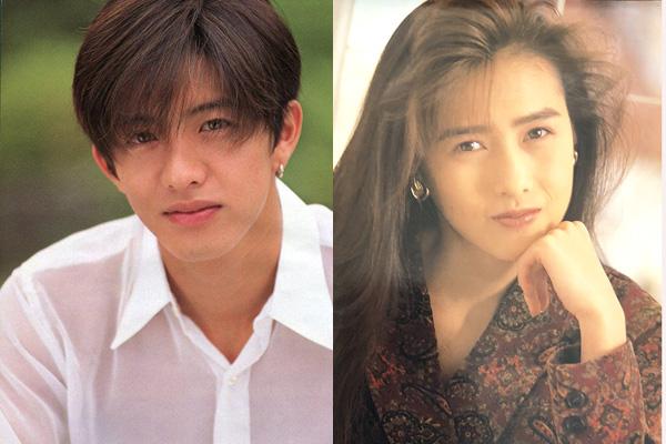Chân dung Takuya Kimura và vợ - Kudo Shizuka thời trẻ.